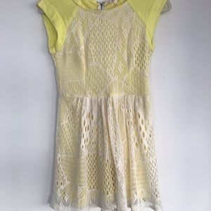 Ella Moss Mini Lace Dress XS